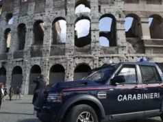 Tourist carves name into Colosseum