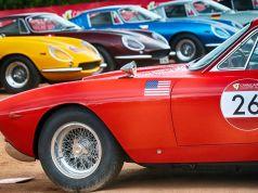 Vintage Ferrari cars in Rome