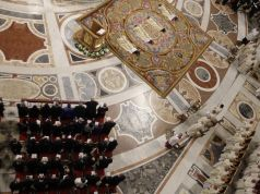 Fragments fall off St Peter's ceiling as Pope Francis says Mass