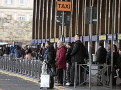 Taxi shortage at Rome's main railway station
