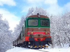 Christmas snow train through Abruzzo