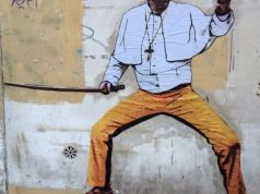 Rome street art: Pope Francis as Kill Bill
