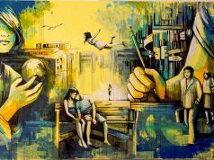 Alice Pasquini street art at Farnesina in Rome