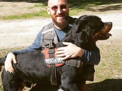 Amatrice bids farewell to Aaron the hero dog