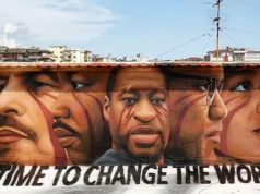 George Floyd mural in Naples: Time to Change the World