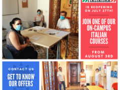 On-campus Italian language courses in the center of Rome