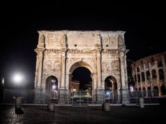 Rome lights up the Arch of Constantine