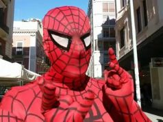 Man in Spider-Man mask tries to rob Rome gelateria