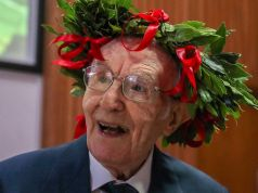 Italy's oldest student celebrates degree at 96