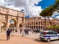 Rome: Tourist carves his initials into Colosseum