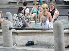 Rome: Tourist fined for washing her feet in fountain