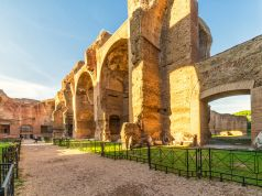 Rome gives sunset tours at Baths of Caracalla