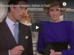 Princess Diana talks about Italy in Italian