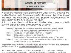 Jewish Ghetto & a walk in Trastevere - Sunday 28 February 2021