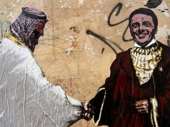 Italy: Rome street art highlights Renzi's links with Saudi Arabia