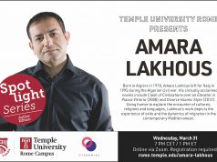Temple University Rome Presents Author Amara Lakhous