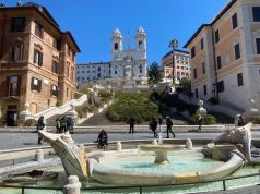 Rome's Spanish Steps bloom once again with spring azaleas