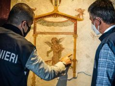 Pompeii welcomes back looted Roman frescoes