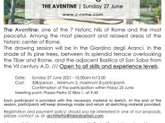 C-Rome: Urban Drawing Lesson  THE AVENTINE | Sunday 27 June