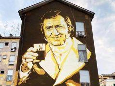 Rome unveils Alberto Sordi mural in Garbatella