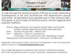 C-Rome | A Sunset Walk - Thursday 5 August