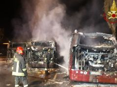 Rome buses destroyed in dawn fire at depot