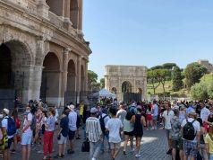 Rome's Colosseum welcomes up to 8,000 tourists a day