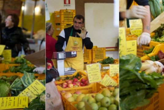 Rome farmers' market at Circus Maximus