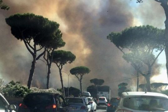 Rome homes evacuated over wildfires