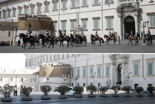 Anti-terrorism measures at Rome's Quirinal Palace