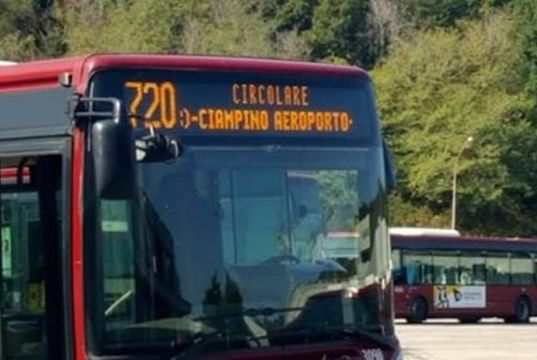 New city bus serving Rome's Ciampino airport