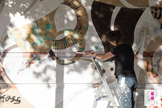 Lucy McLauchlan mural for Rome's Forgotten Project