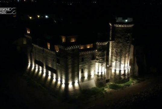 S. Severa Castle illuminated at night
