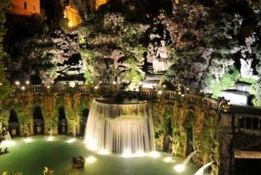 Summer nights at Villa d'Este in Tivoli