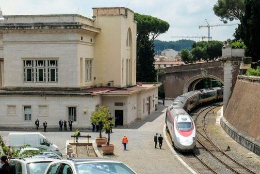 Vatican train to Barberini Garden at Castel Gandolfo outside Rome