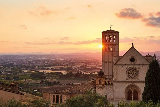 Plan for bicycle path from Rome to Assisi