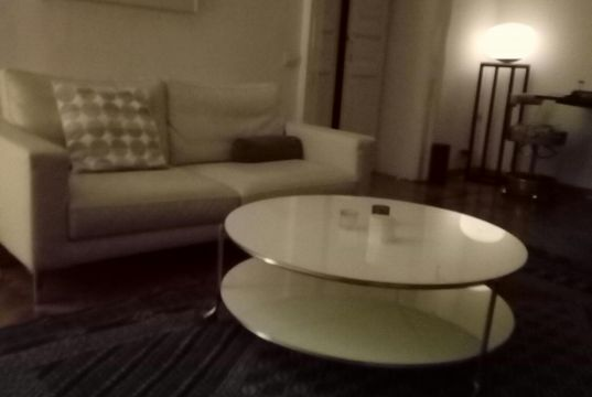 White Glass Coffee Table with Shelf