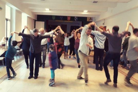 Irish céilí dance in Rome