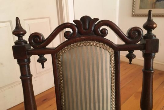 Pair of English antique bedroom chairs