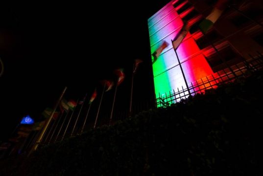 Rome: FAO lights up with colours of Italian flag