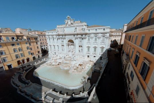 Rome's Trevi Fountain as you've never seen it before