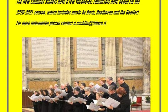 Cher choir vacancies
