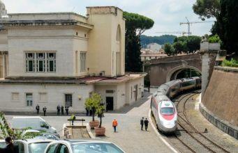 Vatican train to Barberini Garden at Castel Gandolfo
