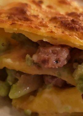 Rome recipe: Sausage and Broccoli Lasagne