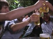 Cut drink on holiday in Italy