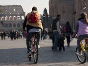 Traffic-free Sunday in Rome