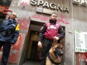 Guard dogs at Rome's busiest metro stations