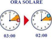 Clocks go back on 30 October
