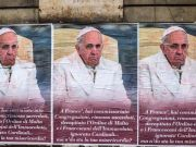 Rome police investigate critical posters of Pope Francis