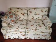 Handcrafted settee newly covered